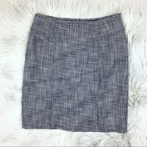 Banana Republic Navy Tweed Pencil Skirt